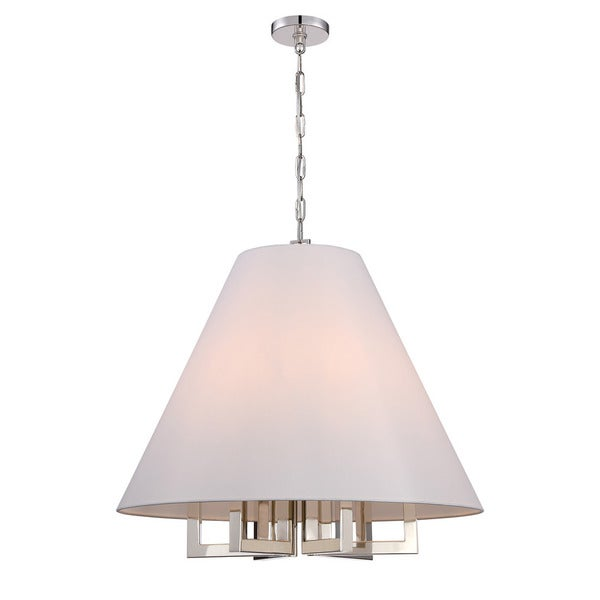 Crystorama Libby Langdon Westwood Collection 6-light Polished Nickel Chandelier - Silver