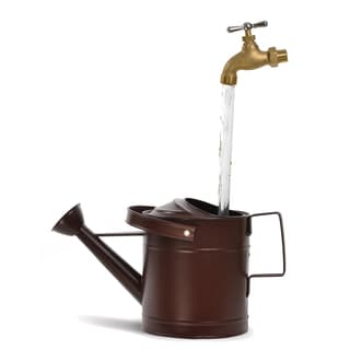 Universal Home and Garden SPR-13 Small Rust Galvanized Watering Can Fountain