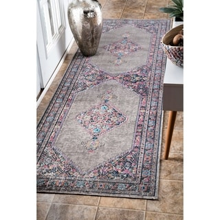 Shop Nuloom Vintage Persian Border Grey Runner Rug 2 8 X