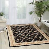 Nourison Mondrian Black Area Rug (5'3 x 7'5) - 5'3 x 7'5