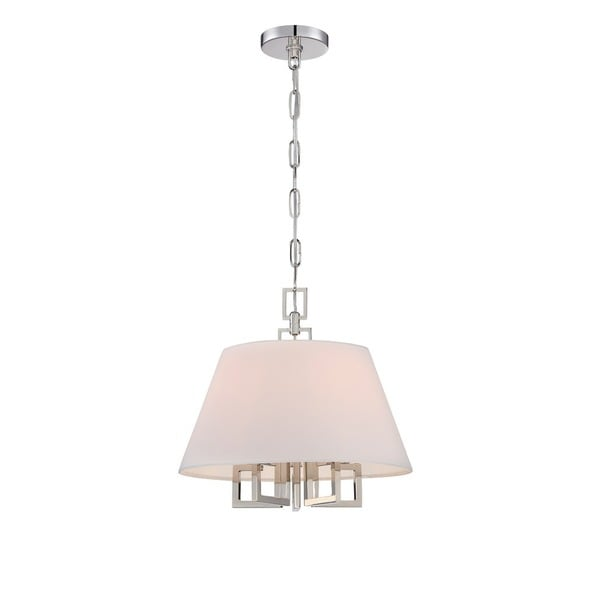 Crystorama Libby Langdon Westwood Collection 5-light Polished Nickel Chandelier - Silver