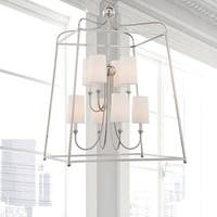 Crystorama Libby Langdon Sylvan Collection 8-light Polished Nickel Chandelier