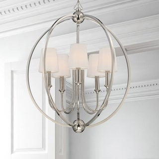 Crystorama Libby Langdon Sylvan Collection 5-light Polished Nickel Chandelier