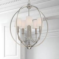 Crystorama Libby Langdon Sylvan Collection 5-light Polished Nickel Chandelier