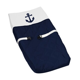 Sweet Jojo Designs Anchors Away Collection Changing Pad Cover