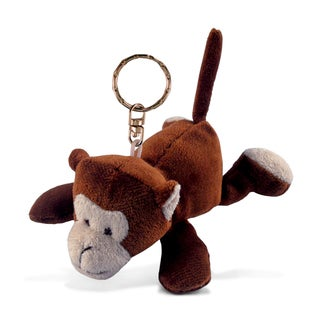 Puzzled Plush Monkey Keychain