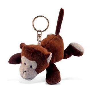 Puzzled Plush Monkey Keychain