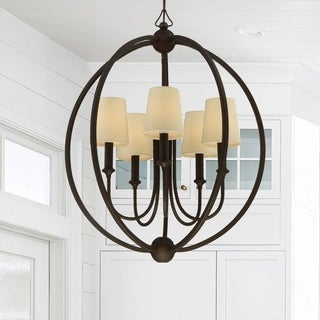 Crystorama Libby Langdon Sylvan Collection 5-light Dark Bronze Chandelier