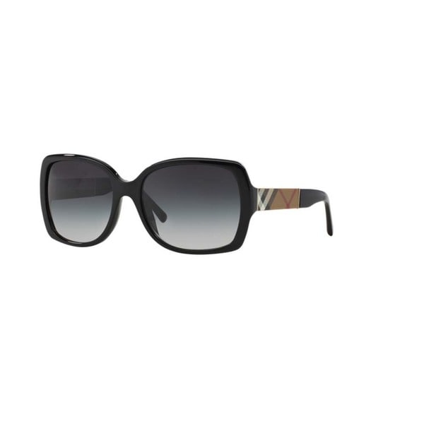 f1372c9dc1a Burberry BE4160 34338G Black Plastic Square Sunglasses with 58mm Lens