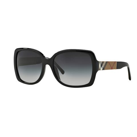07e8a2b7ce63 Burberry BE4160 34338G Black Plastic Square Sunglasses with 58mm Lens