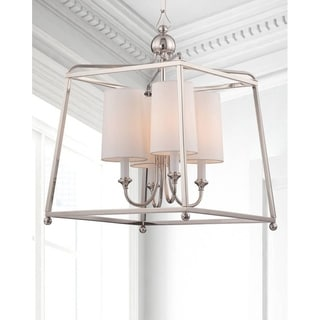 Crystorama Libby Langdon Sylvan Collection 4-light Polished Nickel Chandelier