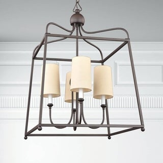 Crystorama Libby Langdon Sylvan Collection 4-light Dark Bronze Chandelier