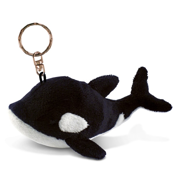 Puzzled Killer Whale Plush Keychain