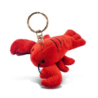 Puzzled Plush Keychain - Lobster