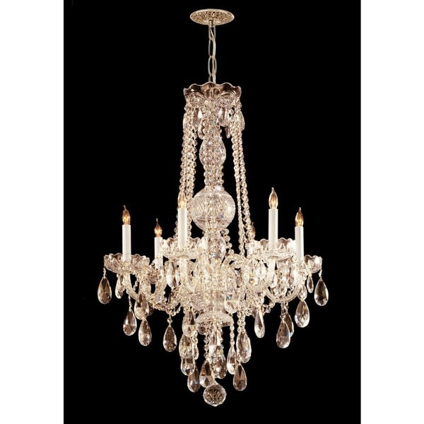 Crystorama Traditional 6-light Polished Brass Chandelier - N/A