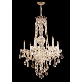 Crystorama Traditional 6-light Polished Brass Chandelier