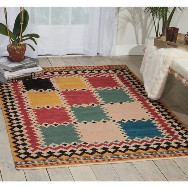 Nourison Kilim Multicolor Area Rug (3'9 x 5'9)