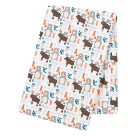 Trend Lab Scandi Forest Flannel Jumbo Deluxe Swaddle Blanket