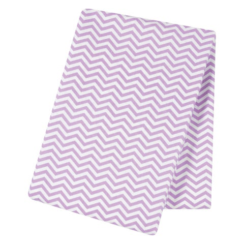 Trend Lab Lilac Chevron Jumbo Deluxe Flannel Swaddle Blanket