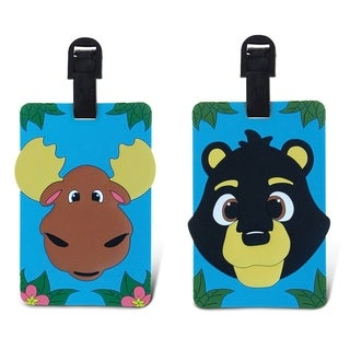 Puzzled Taggage. Black Bear and Moose Luggage Tag Set