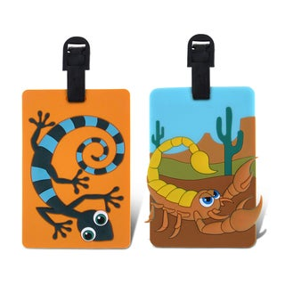 Puzzled Taggage! Scorpion And Gecko Luggage Tag Set