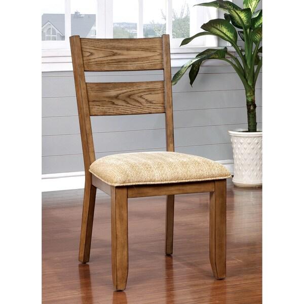 Shop furniture of america merina country style light oak