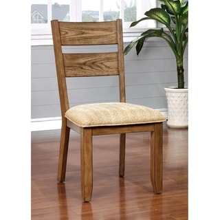 Furniture of America Merina Country Style Light Oak Side Chair (Set of 2)