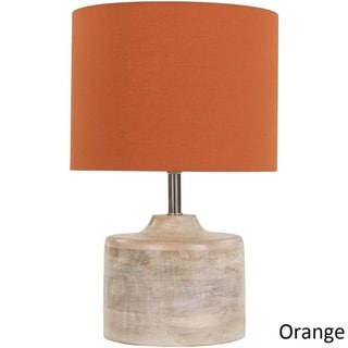Rustic Ongar Table Lamp with Natural Finish Wood/Metal Base