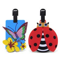 Puzzled Taggage. Butterfly And Ladybug Luggage Tag Set