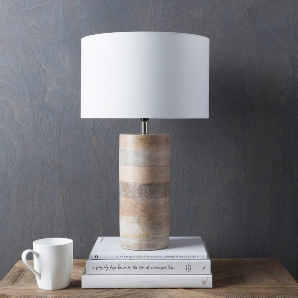 Shop Rustic Neil Table Lamp With Natural Finish Wood Metal