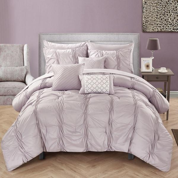Chic Home Luna Lavender Bed in a Bag Comforter 10-Piece Set