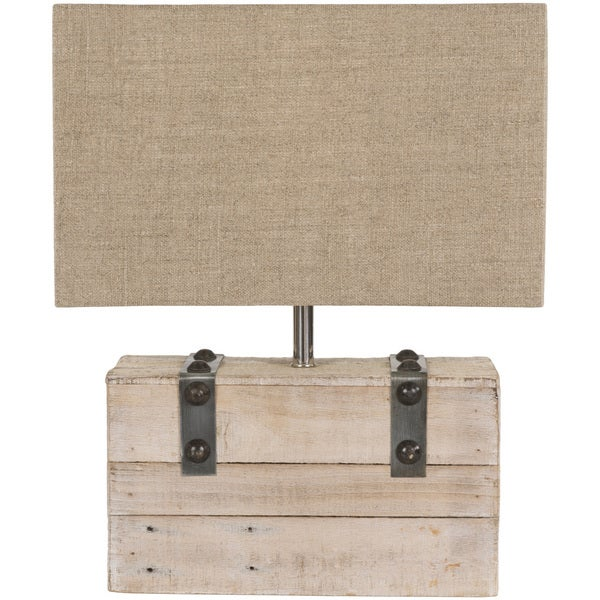 Specialty Olten Table Lamp with White Washed Wood/Metal Base