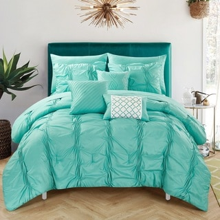 Chic Home Luna Turquoise Bed in a Bag Comforter 10-Piece Set