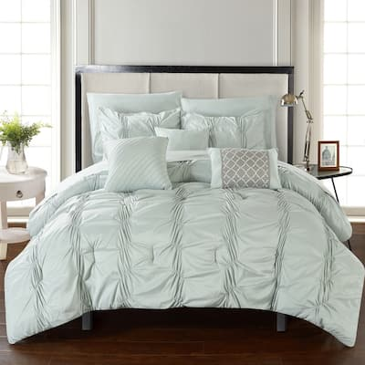 Chic Home Luna Green Bed in a Bag Comforter 10-Piece Set