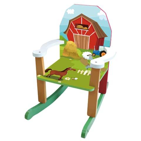 Wood Farm Rocking Chair