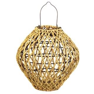 Echo Valley 4587 9.38-Inches Kensington Sea Grass Solar Lantern