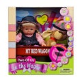 Kid Concepts Plastic Baby Doll With Wagon Playset