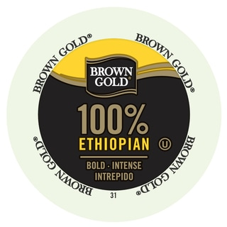Brown Gold Coffee 100-percent Ethiopian RealCup Portion Pack for Keurig Brewers
