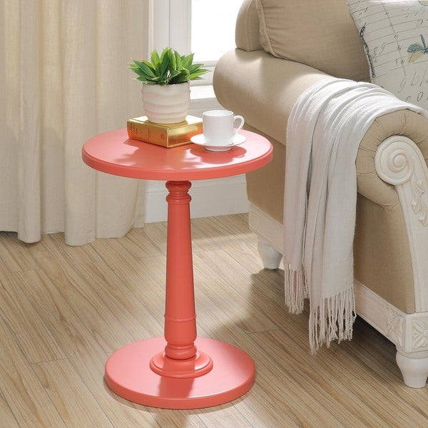 Shop Haley Accent Table In Coral Free Shipping Today