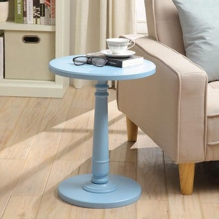 Haley Accent Table in Baby Blue