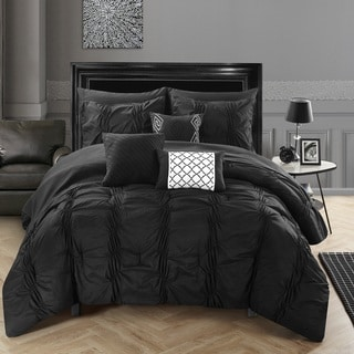 Chic Home Luna Black Bed in a Bag Comforter 10-Piece Set