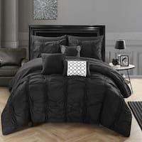 Chic Home Luna Black Bed in a Bag Comforter 10-Piece Set