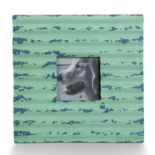 Turquoise Metal Corrugated Frame