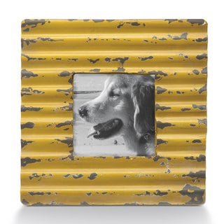 Chartreuse Metal Corrugated Frame