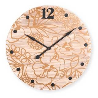 Gold Printed Floral Clock XL