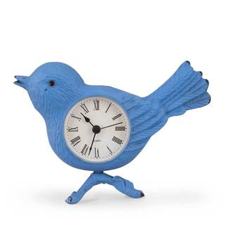 Metal Bird Tabletop Clock