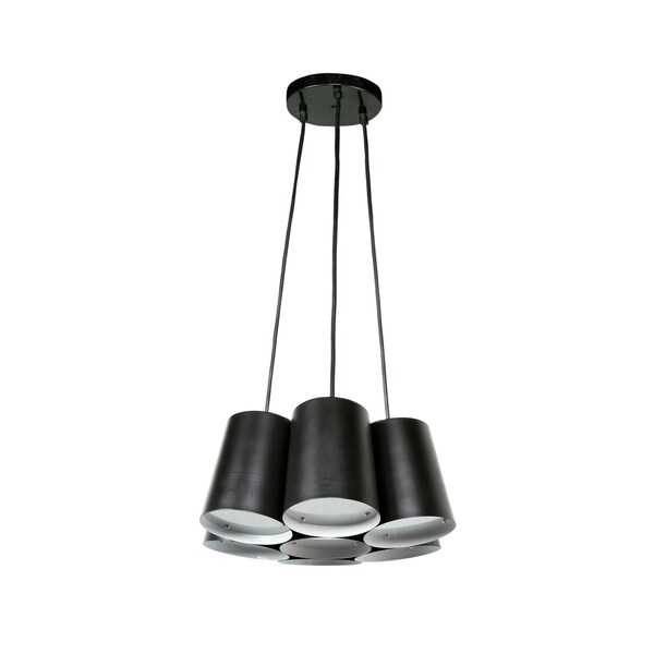 Euro Style Collection Barcelona Black Metal Modern 7-bulb Ceiling Lamp