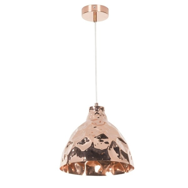 Euro Style Collection Firenze Rose Copper Ceiling Lamp