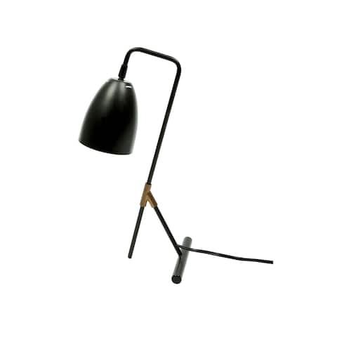 "Euro Style Collection Copenhagen 18"" Modern Table Lamp-Black"