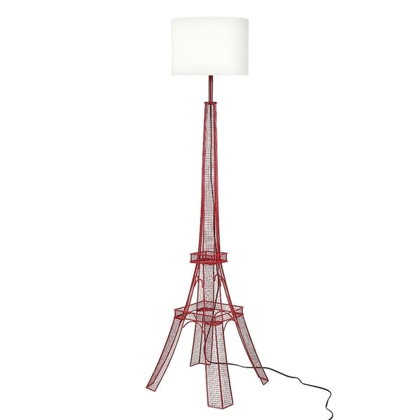 euro style collection paris eiffel tower metal body floor lamp
